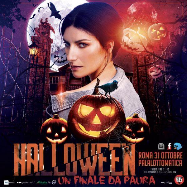 Festa Di Halloween A Roma.Laura Pausini Una Festa Di Halloween Al Palalottomatica Per